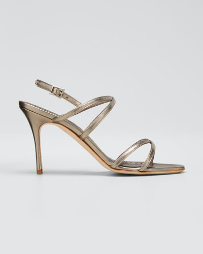 Amazia Metallic Strappy Stiletto