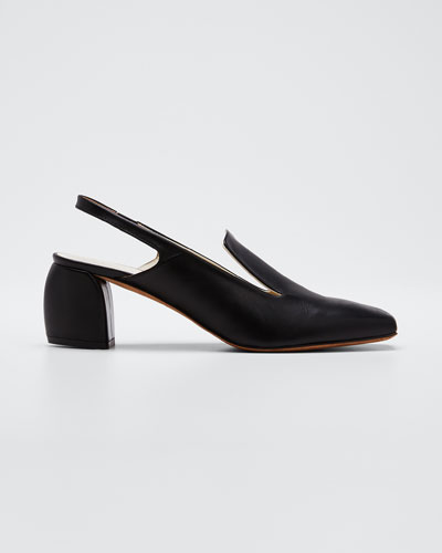 Evon Slingback Leather Pumps