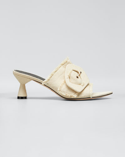 Lilly 60mm Linen Heeled Sandals