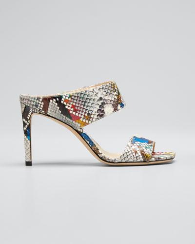 Hira Rainbow Slide Heeled Sandals
