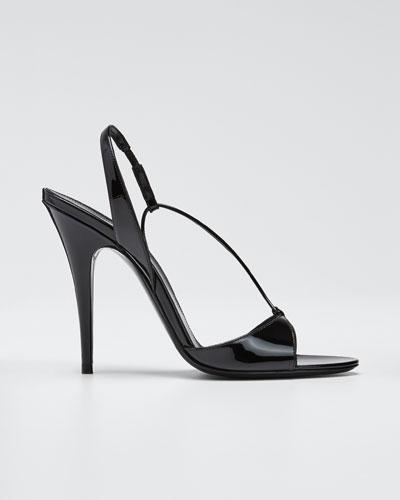 Anouk Patent Slingback Sandals