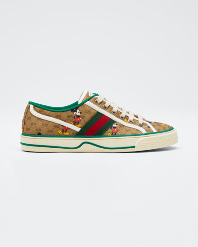 Disney x Gucci Vulcan Mickey GG Canvas Sneakers