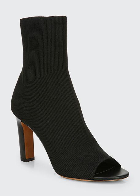 Ezra Open-Toe Knit Booties