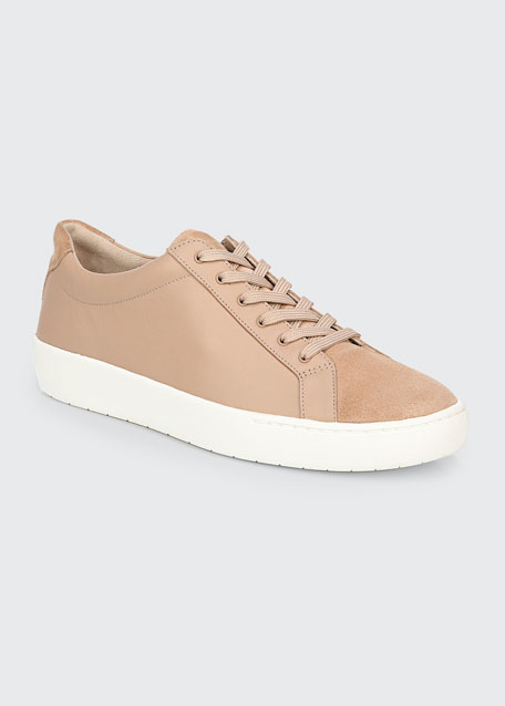 Janna Suede & Leather Low-Top Sneakers