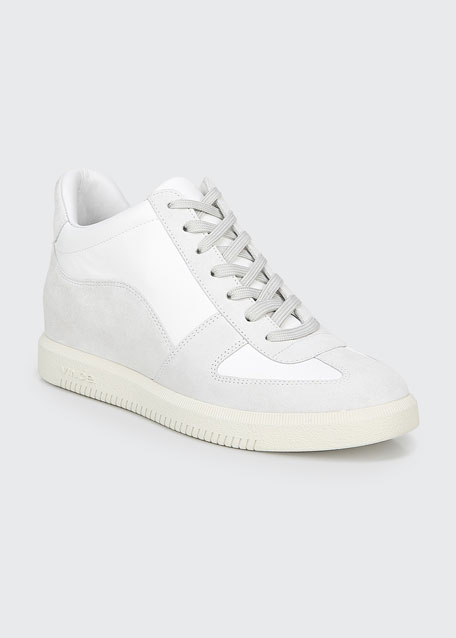 Ina Suede/Leather Flatform Sneakers