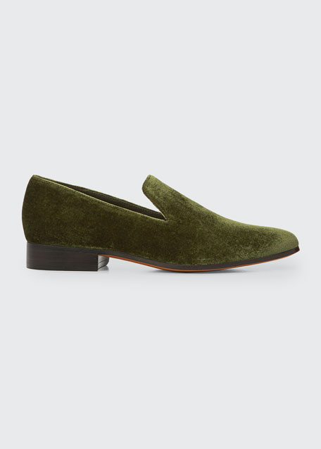 Lela Smart Velvet Loafers