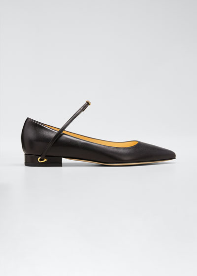 Laurenzo Leather Point-Toe Flats