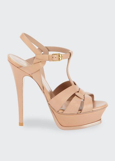 Tribute Leather Stiletto Sandals
