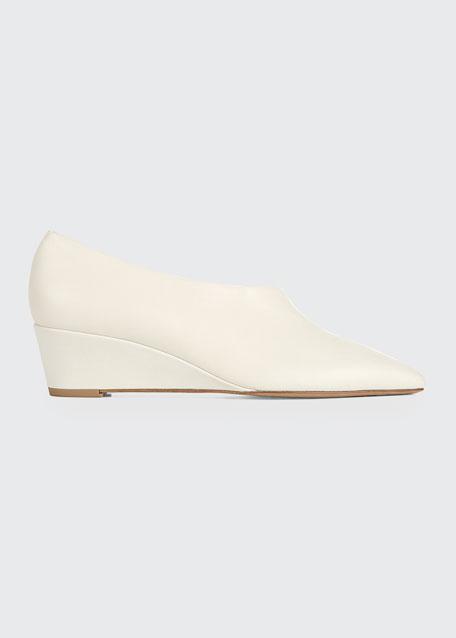 Barolo Asymmetric Napa Wedge Loafers