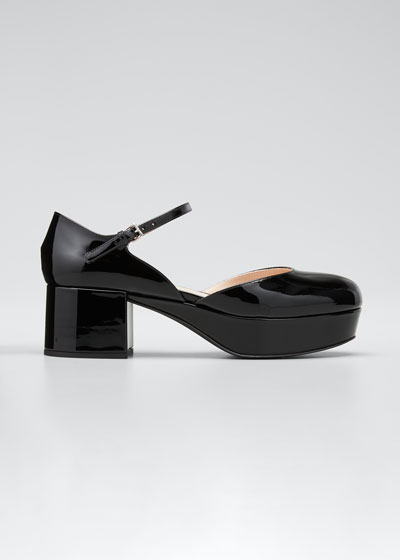 50mm d'Orsay Patent Leather Pumps