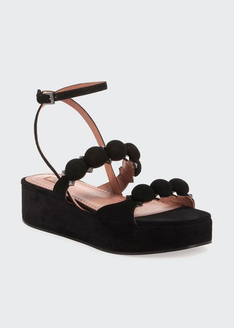 Suede Platform Bombe Sandals