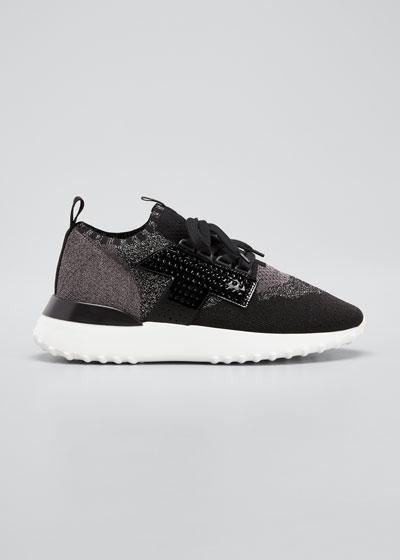 Metallic Sock Sneakers