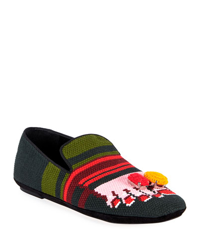 Canvas Logo Foot Slippers
