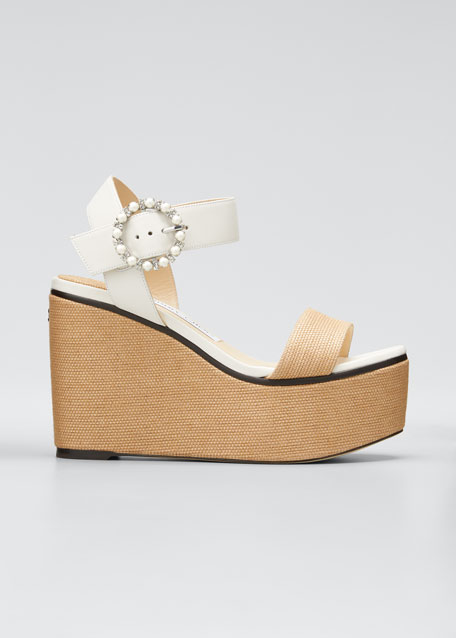 Image 1 of 1: Abigail Platform Wedge Sandals