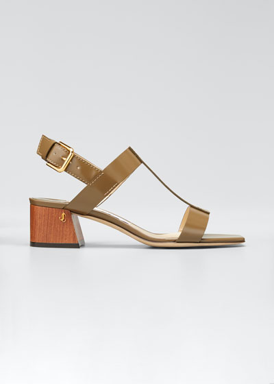 Jin 45mm Block-Heel Sandals