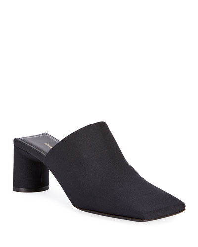 Square Neoprene Slide Mules