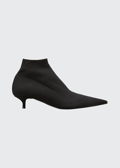 Knife Pointed-Toe Stretch Sock Booties