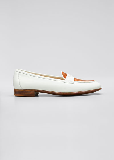 Two-Tone Penny Loafers