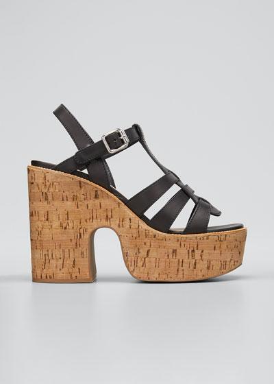 125mm Platform Cork Sandals