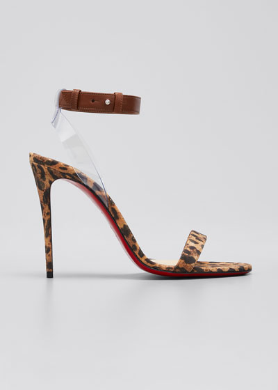 Jonatina Leopard-Print Cork Sandals