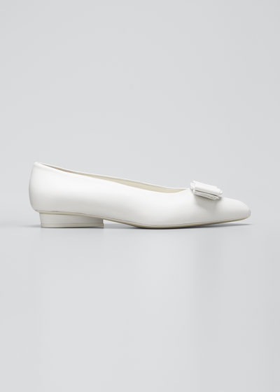 Viva Bow Pointed-Toe Ballet Flats