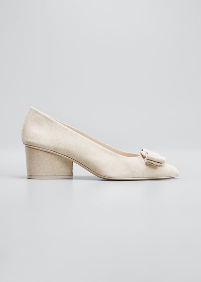 Viva 55mm Pumps With Bow & Block Heel