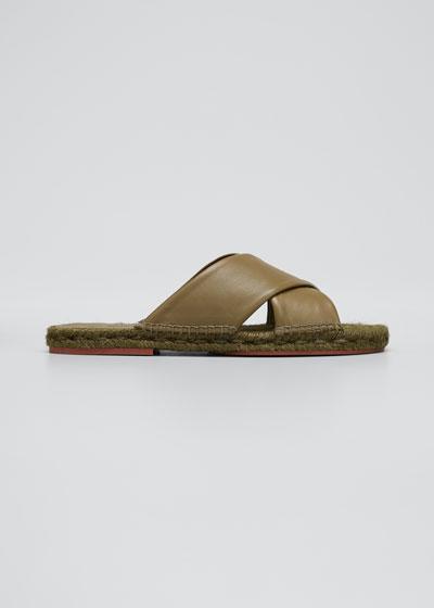 Crisscross Flat Espadrille Sandals