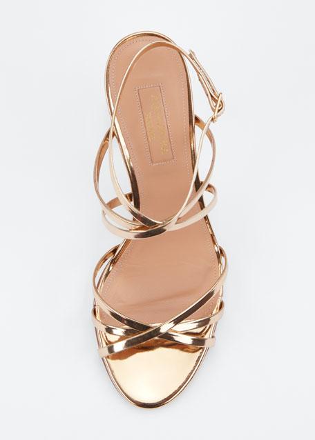 Gin 85mm Metallic Leather Sandals