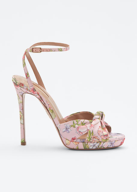 Chance Foulard Platform Sandals