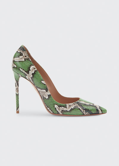 Purist 105mm Snakeskin Pumps