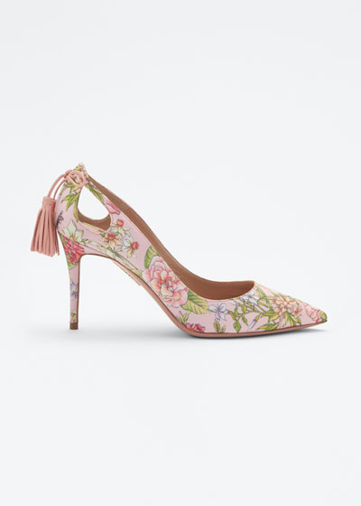 Forever Marilyn Cutout Floral Pumps
