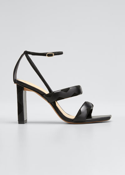 Clarita Mixed Leather Strappy Sandals
