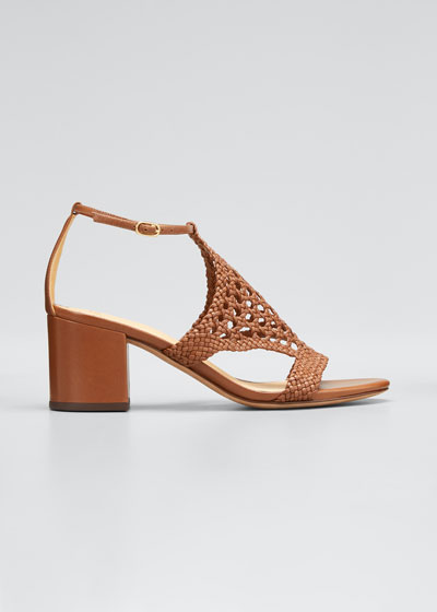 60mm Cadie Woven Leather Sandals