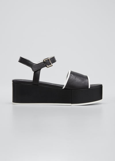 Mori Two-Tone Wedge Platform Sandals