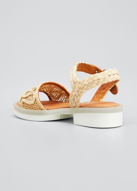 Felepie 30mm Raffia Rubber Sandals