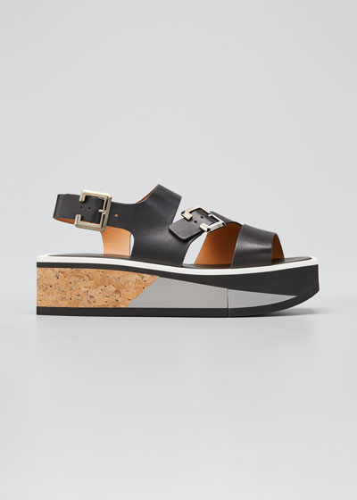 Ulysset Cork Flatform Wedge Sandals