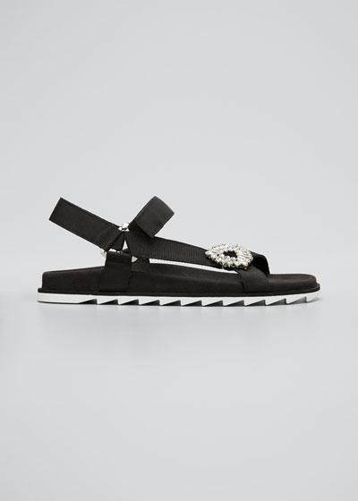 Trekky Viv' Crystal Flat Sport Sandals