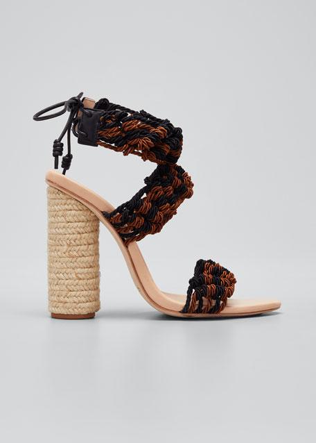 Debra Crocheted Block Heel Sandals