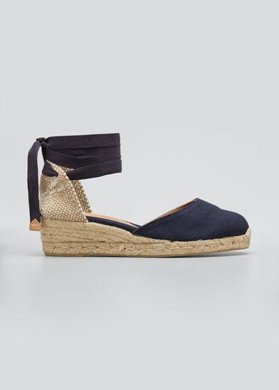 Carina Canvas Ankle-Tie Espadrilles
