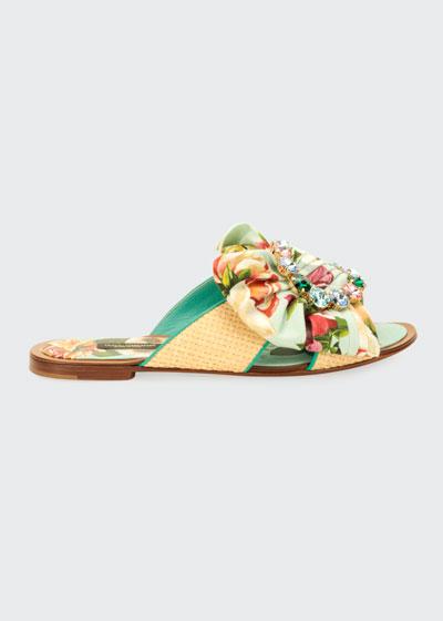 Blooming Floral Flat Slide Sandals
