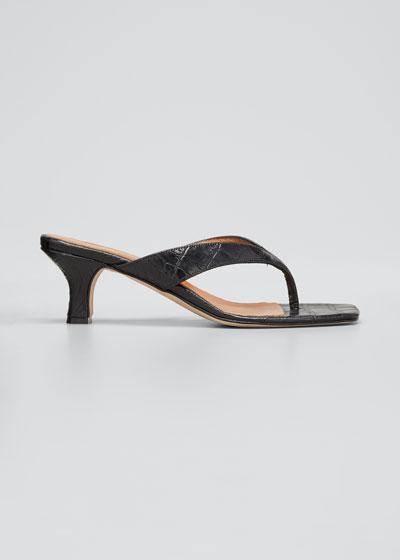 45MM Moc Croco Thong Sandals
