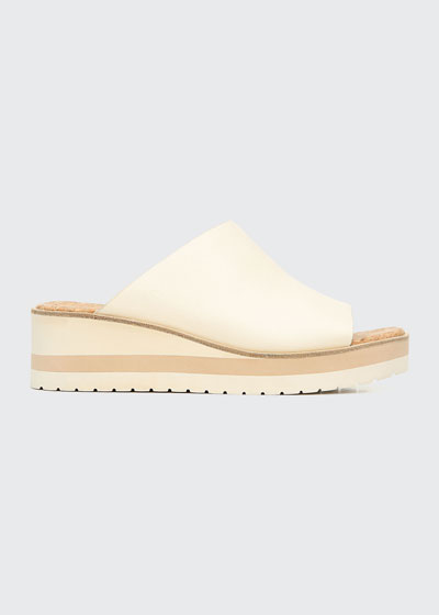 Sarria Asymmetrical Leather Slide Sandals