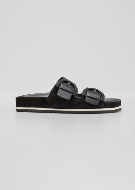 Glyn Dual Buckle Slide Sandals