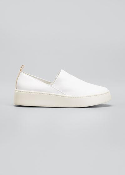 Saxon Napa Leather Slip-On Sneakers