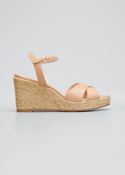 Rosemarie Patent Wedge Espadrille Sandals