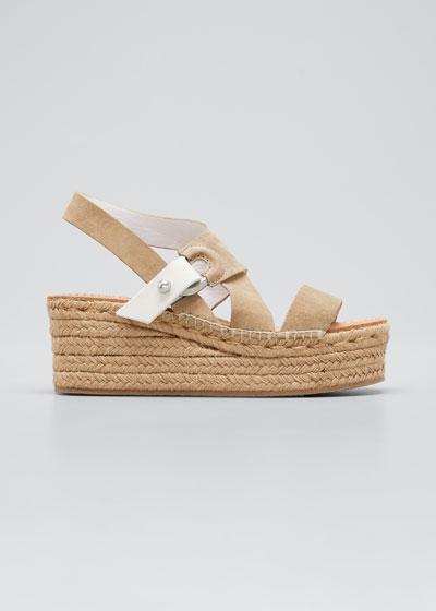 August Suede Wedge Platform Sandals