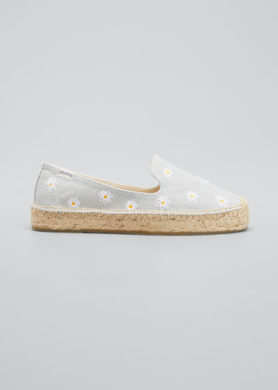 Daisies Embroidered Espadrilles