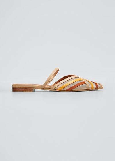 Paulina Colorblock Stripe Flat Mules