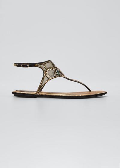Deco Embellished Thong Sandals