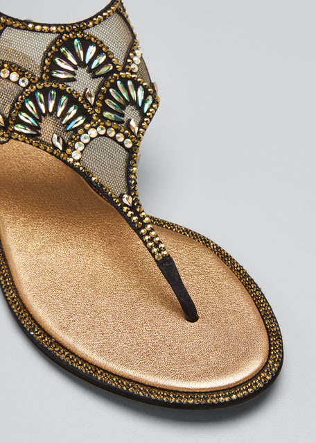 Deco Embellished Thong Sandals